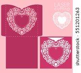 laser cut wedding invitation or ... | Shutterstock .eps vector #551201263