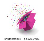 opening pink gift box and... | Shutterstock . vector #551212903
