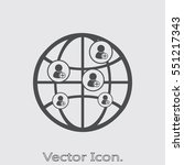 social network icon isolated... | Shutterstock .eps vector #551217343