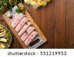 Sliced Ham With Decoration...