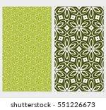 set of valentine day flower... | Shutterstock .eps vector #551226673