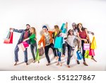 multi ethnic group of people... | Shutterstock . vector #551227867