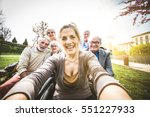 group of senior people with... | Shutterstock . vector #551227933