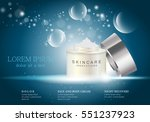 cosmetic hand cream box vector...