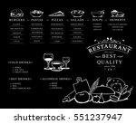 placemat design template ... | Shutterstock .eps vector #551237947