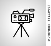 video camera icon. isolated...