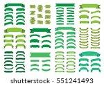 green ribbon banners set.... | Shutterstock . vector #551241493
