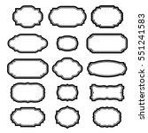 black frames set for pictures.... | Shutterstock . vector #551241583