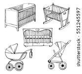 set children's furniture.... | Shutterstock .eps vector #551245597