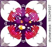 retro pattern design | Shutterstock .eps vector #551249107