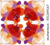 retro pattern design | Shutterstock .eps vector #551249167