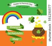 st. patrick's day vector design ... | Shutterstock .eps vector #551250577