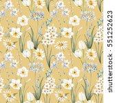 watercolor botanical floral... | Shutterstock . vector #551252623