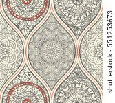 seamless abstract pattern with... | Shutterstock .eps vector #551253673