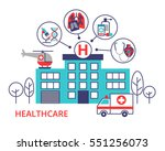 health care concept in modern... | Shutterstock .eps vector #551256073