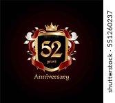 52 years gold anniversary logo... | Shutterstock .eps vector #551260237