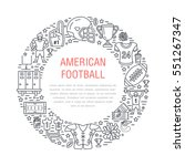 american football banner with... | Shutterstock .eps vector #551267347