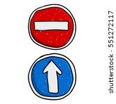 doodle road signs | Shutterstock .eps vector #551272117