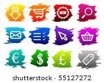 vector webshop icon set