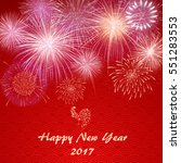 happy chinese new year 2017... | Shutterstock .eps vector #551283553