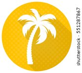 white vector palm tree round... | Shutterstock .eps vector #551287867
