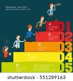 steps of the business | Shutterstock .eps vector #551289163