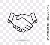 line icon    handshake | Shutterstock .eps vector #551297743