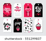 valentines day gift tag vector... | Shutterstock .eps vector #551299837