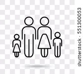 line icon family   Shutterstock .eps vector #551300053