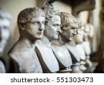 antique italian busts in the... | Shutterstock . vector #551303473