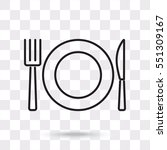 line icon  plate  knife and fork | Shutterstock .eps vector #551309167