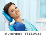 young female patient visiting... | Shutterstock . vector #551319163