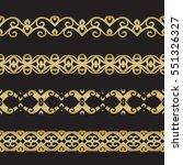 seamless floral tiling border.... | Shutterstock .eps vector #551326327