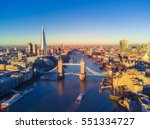 aerial cityscape view of london ... | Shutterstock . vector #551334727