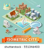 build your own isometric city.... | Shutterstock .eps vector #551346403