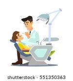 dental office. children's... | Shutterstock .eps vector #551350363