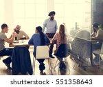 People Meeting Seminar Office...