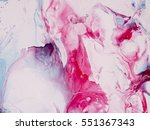 blue and pink hand painted... | Shutterstock . vector #551367343