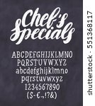 chef's specials menu.... | Shutterstock .eps vector #551368117