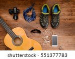 above view flat lay concept of... | Shutterstock . vector #551377783