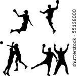 vector handball   Shutterstock .eps vector #55138000