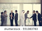 business partners... | Shutterstock . vector #551383783
