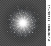 sun with lens flare lights... | Shutterstock .eps vector #551387473