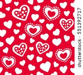 hearts seamless pattern... | Shutterstock .eps vector #551392717