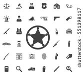sheriff star icon . police set... | Shutterstock .eps vector #551398117