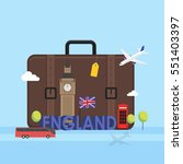 travel to london  great britain ...   Shutterstock .eps vector #551403397