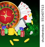 casino background with tablet ... | Shutterstock .eps vector #551407513