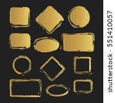 golden grunge vintage painted... | Shutterstock .eps vector #551410057