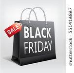black friday sale  gift bag...   Shutterstock .eps vector #551416867