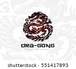 dragon logo template. vector... | Shutterstock .eps vector #551417893